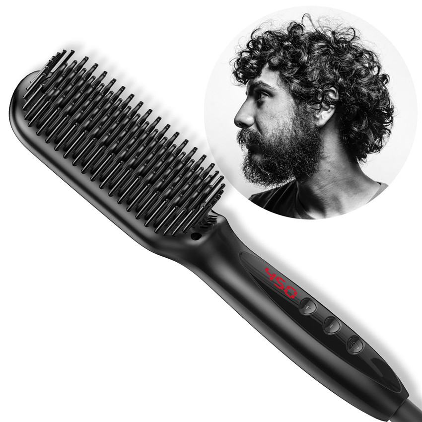 Men's high-end bread brush hair straightener comb