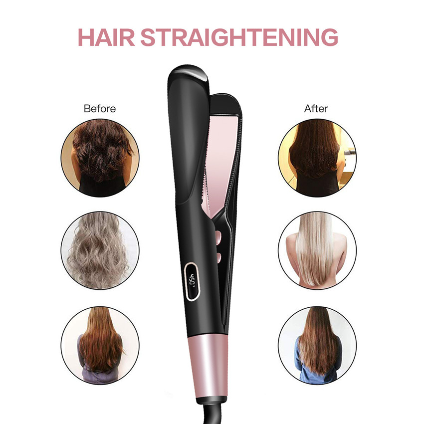 Twisted plates hair straightener