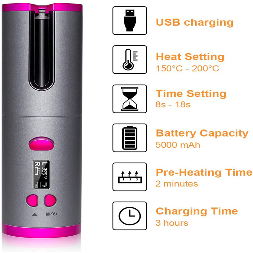 Mini USB Rechargeable Hair Curler