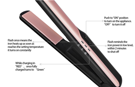 Newest cordless portable popular hair straightener