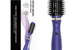 Detachable hot air brush hair styling brush